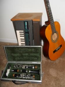 Guitar, clarinet, and keyboard