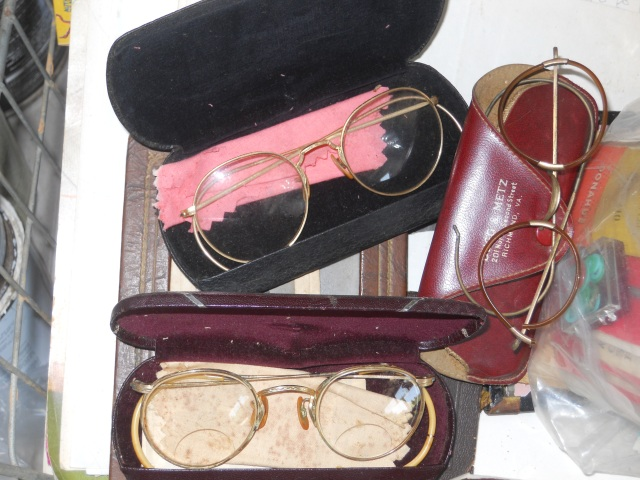 Old Eyeglasses and cases