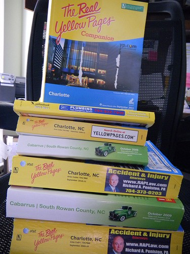 reuse old phone books in new ways