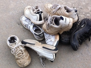Donate worn out athletic shoes