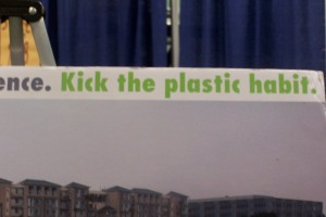 Kick the plastic habit poster