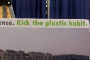 Kick the plastic habit poster
