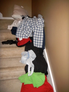 Clothes on Stairs