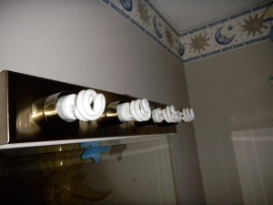 CFL Bulbs in Bathroom