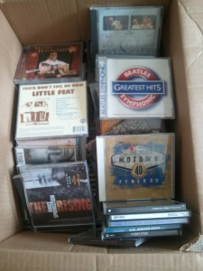 CDs in box