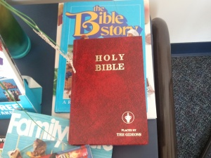 Bibles on table