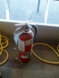 Fire Extinguisher at the jobsite