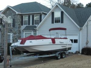No boat storage at home