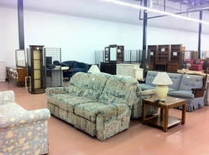 Furniture at Habitat for Humanity's ReStore