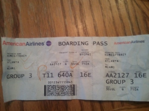 AA Boarding Ticket