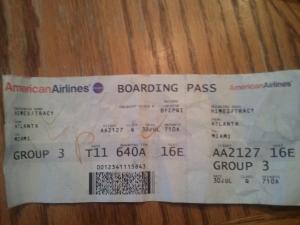 AA Boarding Ticket