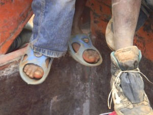 Boys Shoes in Haiti