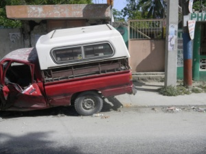 Red Truck in Haiti
