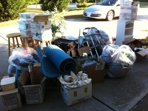 Donations awaiting pick up