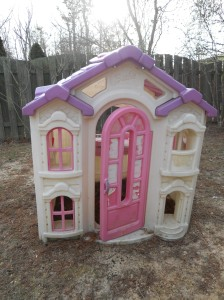 Children's pink playhouse