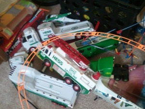 Hess Trucks and toys