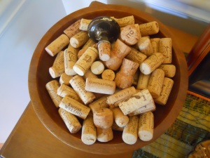 Bowl of corks