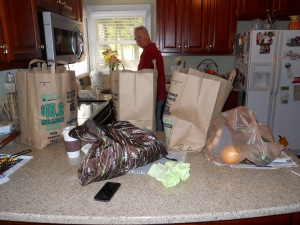 Paper, plastic and reusable shopping bags
