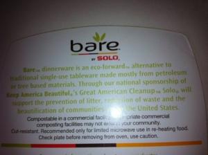 Bio-plastics are compostable