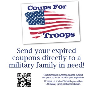 Coups for Troops flyer