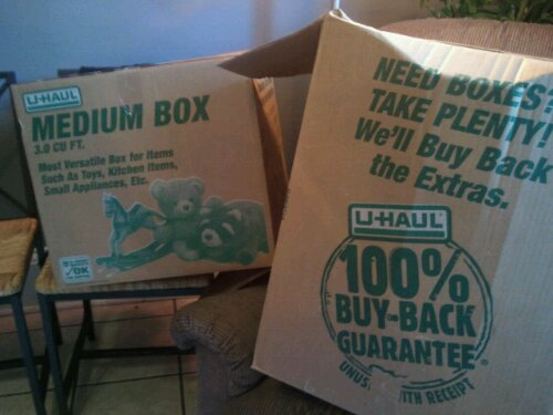 u haul offers solutions for moving boxes think outside the bin. Black Bedroom Furniture Sets. Home Design Ideas