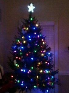 LED lights on Christmas Tree